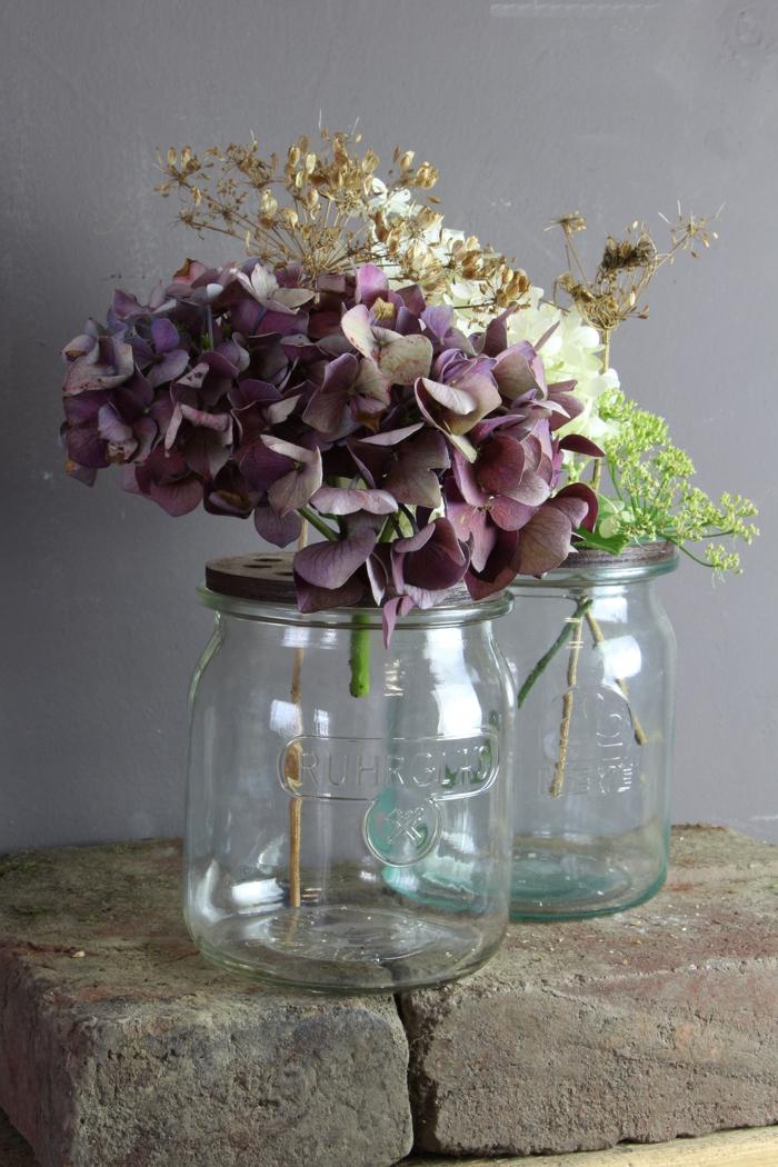 Blütendeckel für alte Einmachgläser