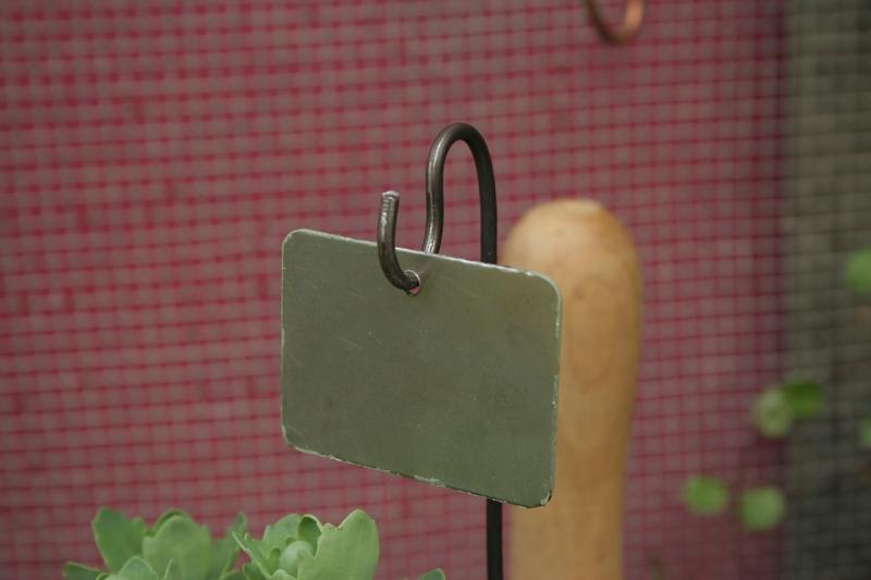 """10 Stück Pflanzenschild """"kleines Grünes mit Eisenhaken"""""""