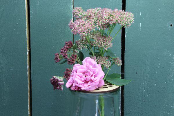 Blütendeckel - Rundrandglas 100