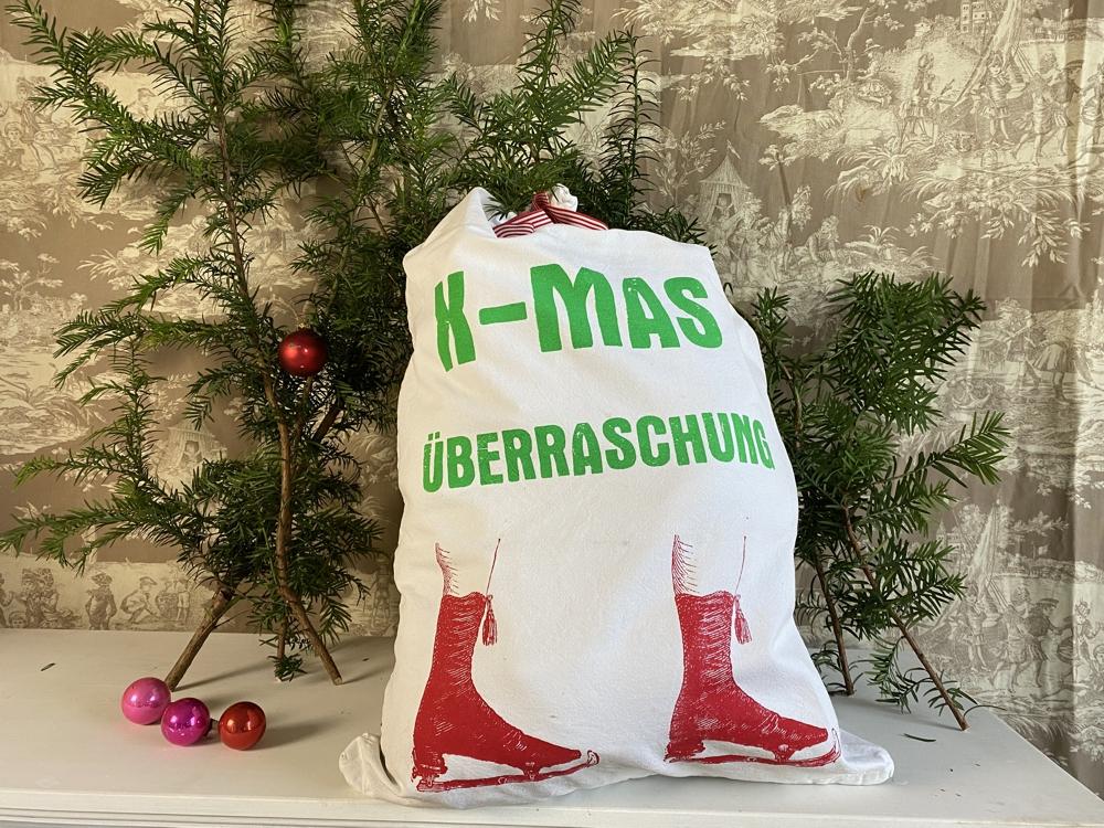 """Geschenk- und Wichtelsack """"X-MAS"""""""