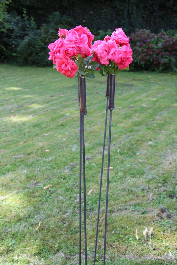 "Outdoorvase ""Gartenstecker"" 3er Set"